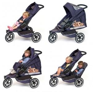 otroški voziček za dvojčke